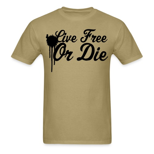 Live Free Or Die khaki - Men's T-Shirt