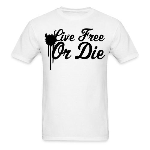 Live Free Or Die white - Men's T-Shirt
