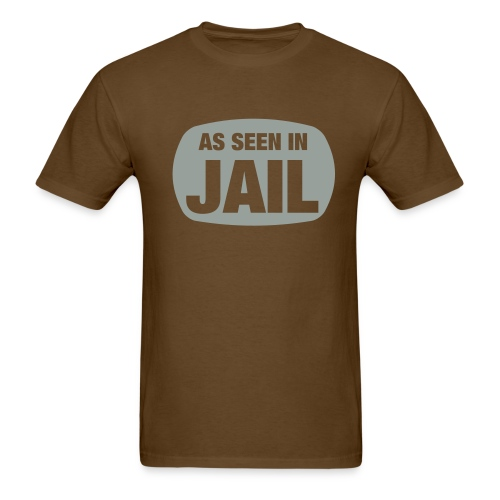 As Seen in Jail - Men's T-Shirt