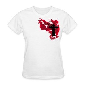 Artistic Blood Cross - Women's T-Shirt