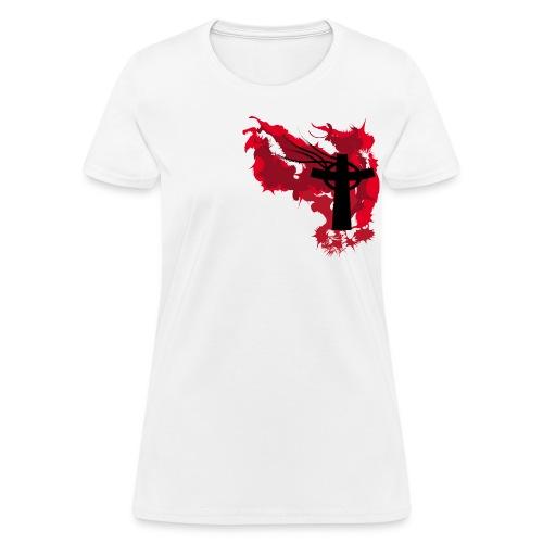 Artistic Blood Cross - Women's T-Shirt
