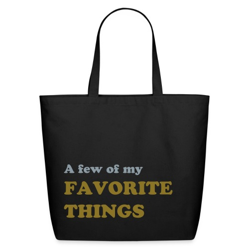Favorite Things (silver/gold) - Eco-Friendly Cotton Tote