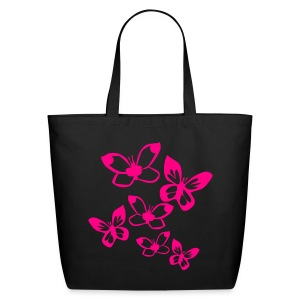 Think Pink Butterflies - Eco-Friendly Cotton Tote