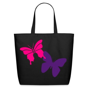 Pretty Butterflies- Pink and Purple - Eco-Friendly Cotton Tote