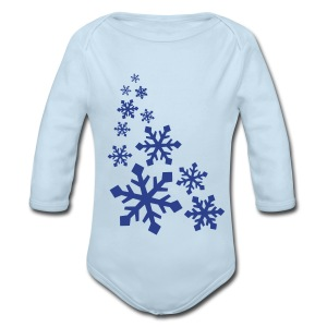 Snowflakes - Long Sleeve Baby Bodysuit