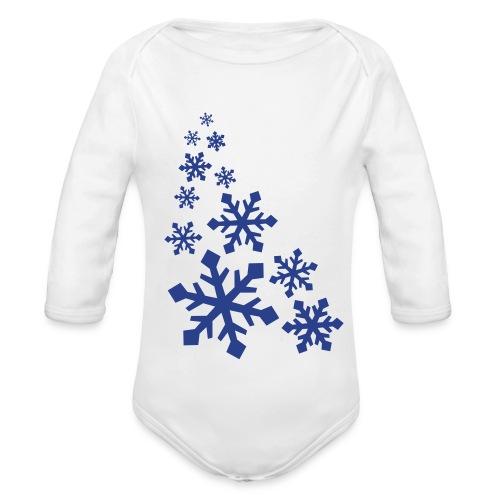 Snowflakes - Organic Long Sleeve Baby Bodysuit