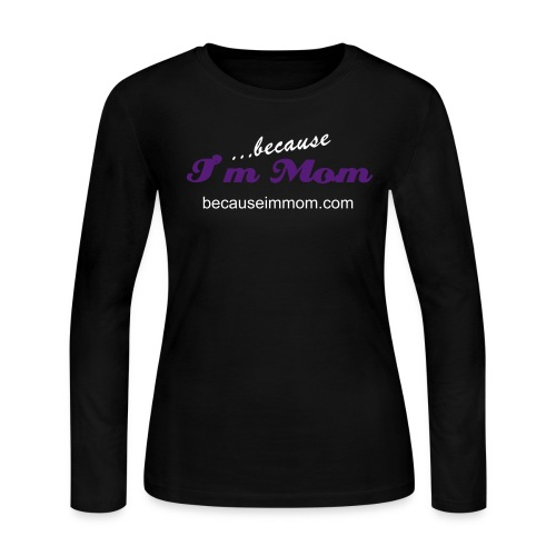 Black Womens Long Sleeved Tee - Women's Long Sleeve Jersey T-Shirt