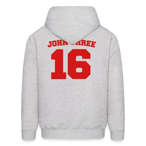 Men's Hoodie - Back: John Three 16