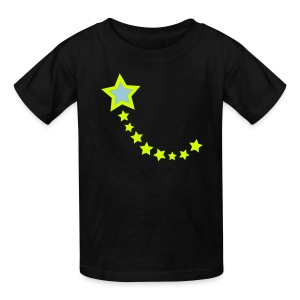 YellowIbis.com 'Astronomy Symbols' Kids T: Shooting Star (Black) - Kids' T-Shirt
