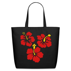 Hibiscus Flower/Guinea Pig Tote - Eco-Friendly Cotton Tote