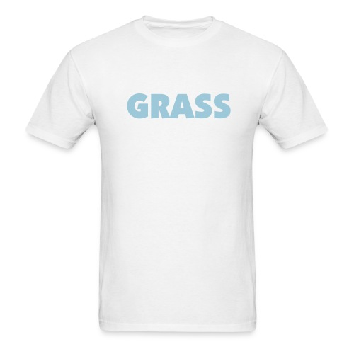 (Blue)Grass white - Men's T-Shirt
