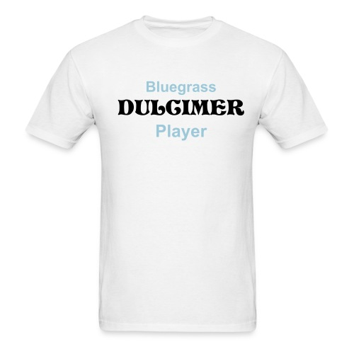 Bluegrass Dulcimer Player White - Men's T-Shirt