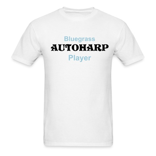 Bluegrass Autoharp Player White - Men's T-Shirt