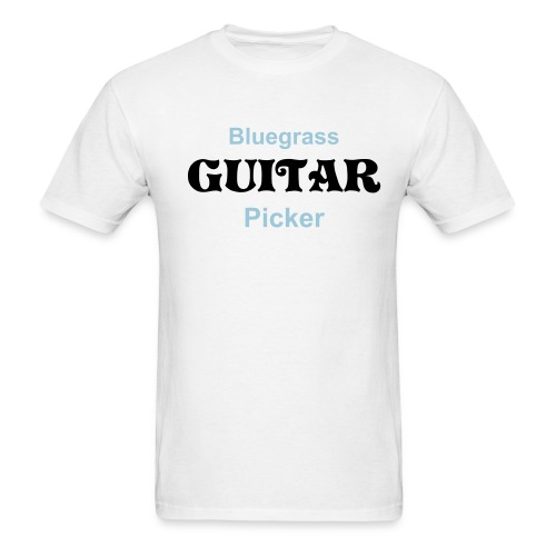 Bluegrass Guitar Picker White - Men's T-Shirt
