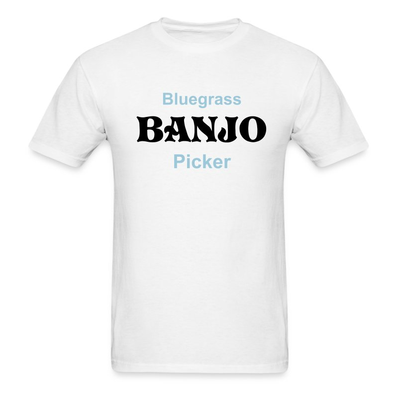 Bluegrass Banjo Picker White - Men's T-Shirt