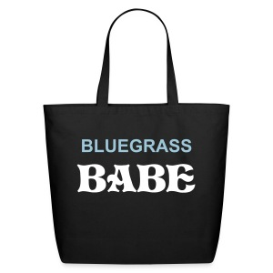 Bluegrass Babe Black - Eco-Friendly Cotton Tote