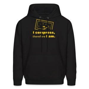 I compress, therefore I am - Men's Hoodie