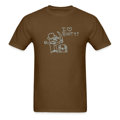 I love booty in chocolate - Men's T-Shirt
