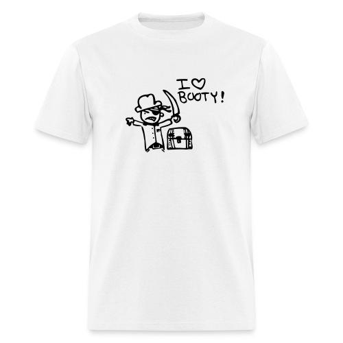 I love booty in white - Men's T-Shirt
