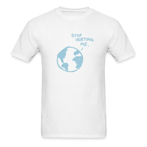 Stop Hurting Me in white - Men's T-Shirt