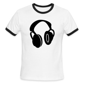 Earphones - Men's Ringer T-Shirt
