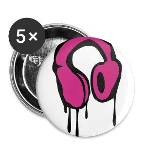Bleeding Headphones Buttons - Large Buttons