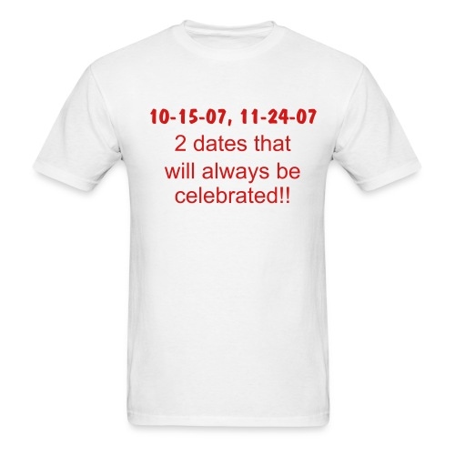 2 dates - Men's T-Shirt