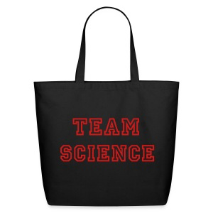 YellowIbis.com 'Varsity Evolution' Eco Cotton Tote Bag: Team Science (Black) - Eco-Friendly Cotton Tote