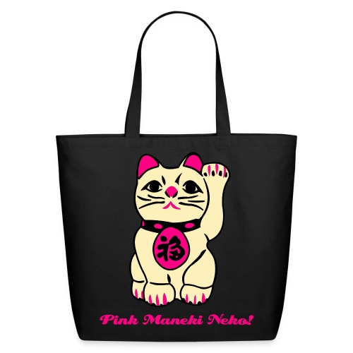 Pinky maneki neKo! 4 Afraid - Eco-Friendly Cotton Tote