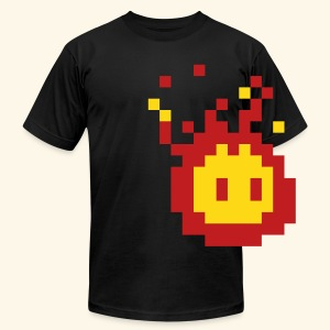 Pixel_Fireball - Men's T-Shirt by American Apparel
