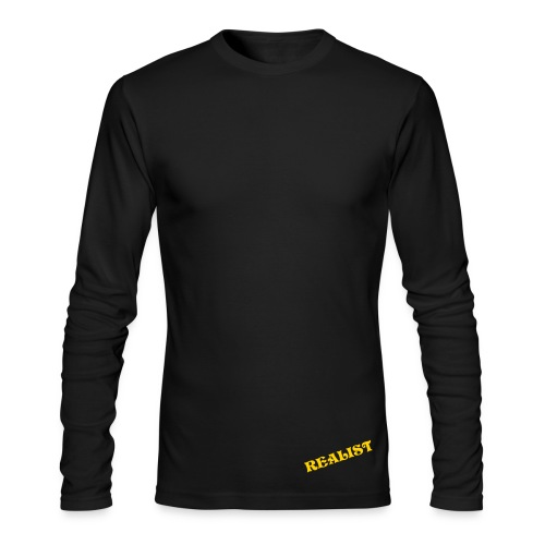 Realist A black - Men's Long Sleeve T-Shirt by Next Level