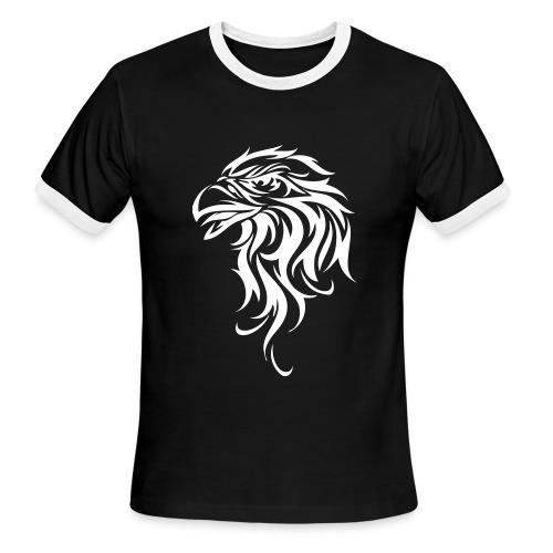 AiruTearim Black Eagle Tee - Men's Ringer T-Shirt