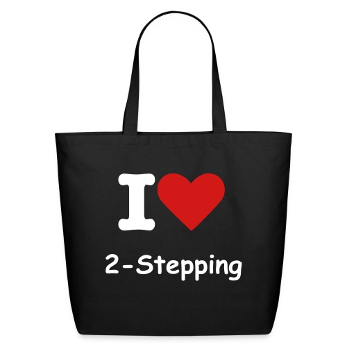 I Heart 2-Stepping Bag - Eco-Friendly Cotton Tote