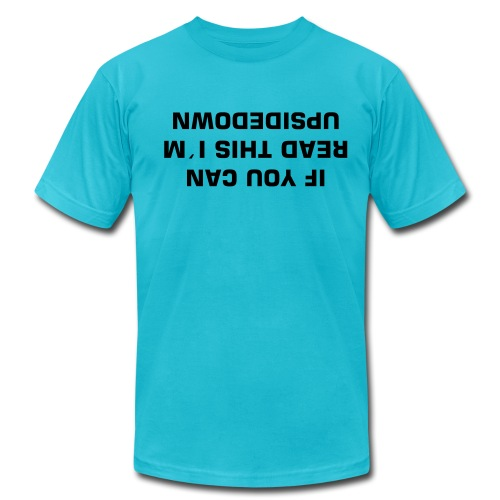 Men's Fine Jersey T-Shirt - If you can read this i´m upside down