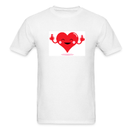 T-Shirts ~ Men's T-Shirt ~ HEART FLICKER T-Shirt - Anti-Valentine Shirt