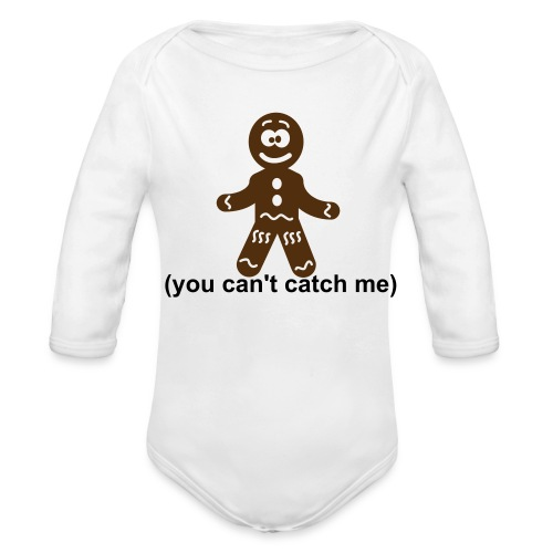 gingerbread - Organic Long Sleeve Baby Bodysuit
