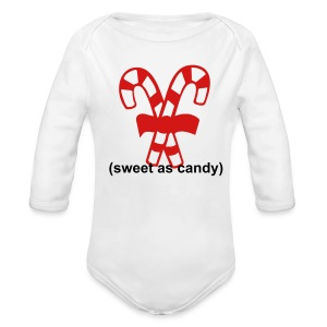 sweet candy - Long Sleeve Baby Bodysuit