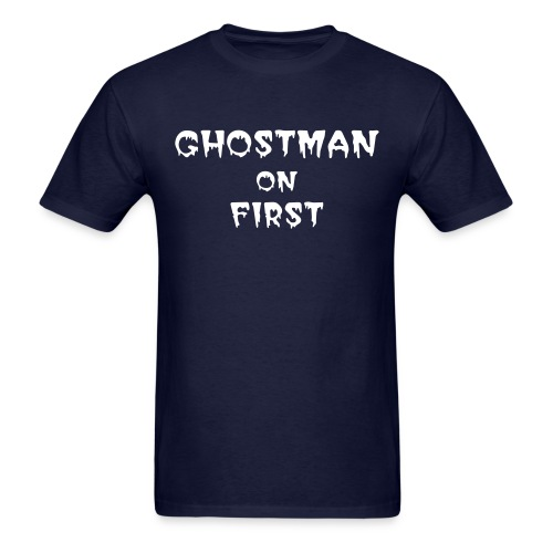 GHOSTMAN ON FIRST SCARY LETTER TEE - Men's T-Shirt