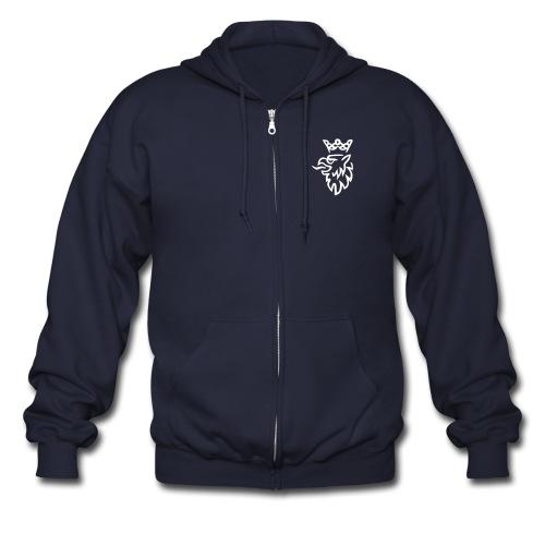 Saab Griffin with hood  - Men's Zip Hoodie
