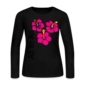 Flower Power Girl's Shirt - Women's Long Sleeve Jersey T-Shirt