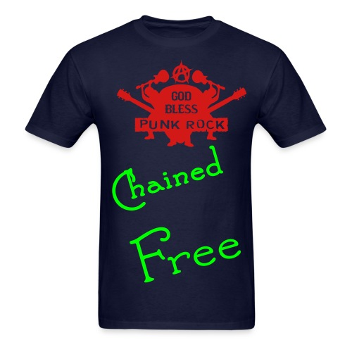 Chained free punk rock tee - Men's T-Shirt