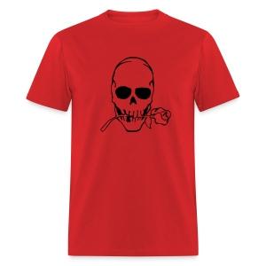 Skull w/ rose T - Men's T-Shirt