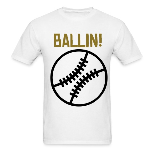 BALLIN BASEBALL - Men's T-Shirt