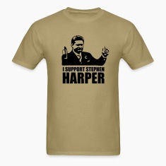 Khaki I Support Stephen Harper T-Shirts