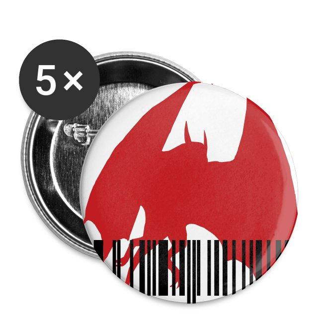 Barcode Dragon Button | Buttons large 2 2'' (5-pack)