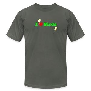I Love Birds - Men's Fine Jersey T-Shirt
