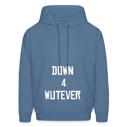 Down 4 Wutever Hood (Green) - Men's Hoodie