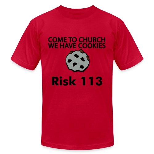 Come to church.. Red T-Shirt - Men's  Jersey T-Shirt