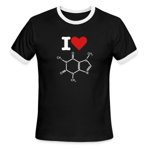 Love Caffeine Tee - Men's Ringer T-Shirt
