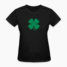 Black Lucky Four Leaf Clover Women